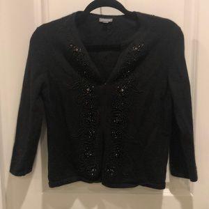 Ann Taylor Cardigan sweater embellished black M